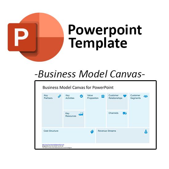Template Powerpoint Business Model Canvas Bandung Digital Store